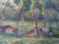 "Ascribed To / Circle of Camille Pissarro ,Watercolour ""Rural Scene in Eragny ""? (6 of 8)"