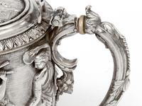 Ornate Victorian Electro Formed Silver Plated Lidded Tankard with Figural Scenes of Musicians (3 of 13)