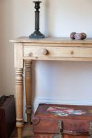 19th Century Pine Hall Table with Single Long Drawer (19 of 19)