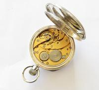 """1918 silver """"Just"""" pocket watch, 24 hour dial (5 of 5)"""