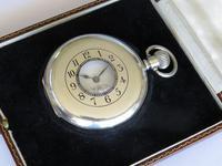 Antique Silver Revue Half Hunter Pocket Watch (2 of 5)