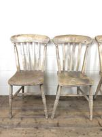 Set of Four Antique Farmhouse Kitchen Chairs (13 of 15)