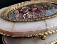Antique French Jewellery Casket, Alabaster, Ormolu, Dried Flowers (5 of 13)