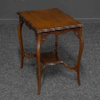 Edwardian Mahogany Window Table (6 of 8)