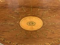 Fine Quality Oval Inlaid Mahogany Occasional Table (3 of 16)