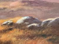"""Oil Painting Scottish Stags """"Denizens of the Highlands"""" Signed Wendy Reeves (21 of 45)"""
