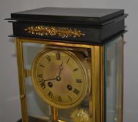 Bronze Ormolu Four Glass Clock Set (7 of 9)