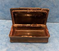 Victorian Horn & Tortoiseshell Snuff Box with Silver Inlay (13 of 16)