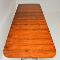 Merrow Associates Rosewood & Chrome Dining Table by Richard Young (11 of 14)