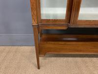 Edwardian Inlaid Mahogany & Satinwood Display Cabinet (5 of 12)