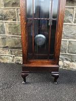 Antique Oak Triple Weight Granddaughter Clock (2 of 10)