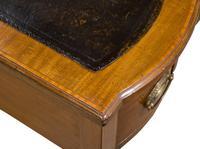 Inlaid Mahogany & Satin Banded Writing Table (3 of 7)