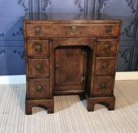 George III Style Burr Walnut Desk c.1920 (7 of 20)