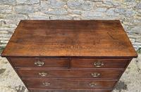 Antique Oak Chest of Drawers with Crossbanded Edge (10 of 17)