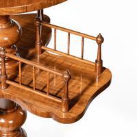 Victorian Walnut Revolving Book Table (4 of 5)