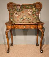 Walnut Card Table Fine Tapestry Interior (8 of 10)