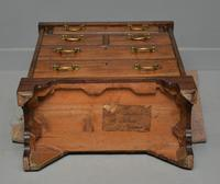 Small Georgian Mahogany Bachelors Writing Chest of Drawers with Provenance (20 of 24)