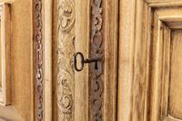17th Century Flemish Bleached Oak Cabinet (3 of 13)
