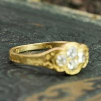 The Late Victorian Spencer of Charlotte 1892 Four Diamond Memory Ring (2 of 10)