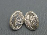 Silver Victorian Cufflinks (2 of 6)