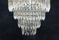 Pair of Italian Art Deco Four Tier Crystal Glass Chandeliers (6 of 7)