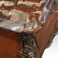 1930's Marble Top Marquetry Bombe Commode (4 of 9)