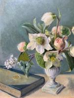 Fabulous Original 20th Century Floral Still Life Study Oil on Board Painting (9 of 11)