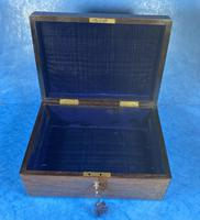 Victorian Rosewood Jewellery Box with Inlay (6 of 14)