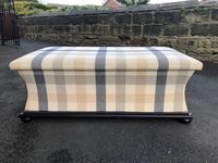 Mahogany Upholstered Sarcophagus Blanket Box (8 of 8)