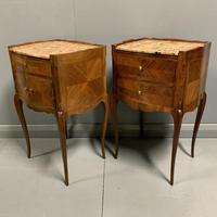 Pair of French Marble Top Bedside Cabinets (5 of 6)