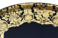 Victorian Decorated Black Lacquer Tray on Stand Coffee Table (9 of 11)