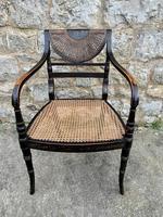 Single English Regency Painted Armchair (4 of 6)
