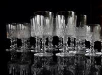 Baccarat Crystal 29 piece Cylindrique suite Richelieu pattern c1916 (3 of 5)