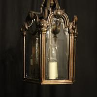 French Bronze Triple Light Antique Hall Lantern (9 of 10)