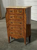 Quality French Marquetry Taller Chest of Drawers (3 of 15)