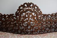 Burmese intricately carved settee in extremely good condition. (9 of 9)