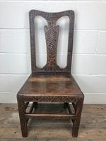 Antique Victorian Carved Oak Chair (12 of 14)