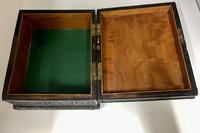 Antique Anglo Indian Hand Carved Wooden Box c.1895 (3 of 7)