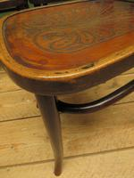 Four Antique Polish Thonet Style Bentwood Bistro Chairs with Pressed Seats (9 of 22)