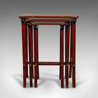 Antique Nest of 3 Occasional Side Tables, Oriental, Japanned, Victorian c.1900 (4 of 12)