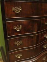 Antique Reproduction Serpentine Chest of Drawers, Chest on Chest by Hekman USA (13 of 17)