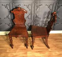 Pair of Victorian Mahogany Hall Chairs 318 (7 of 14)