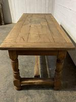 Rustic French Oak 19th Century Farmhouse Kitchen Table (8 of 31)