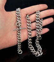 Antique Silver Albert Watch Chain, Heavy (7 of 13)
