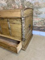 Fabulous 19th Century Pine Trunk with Carved Decoration (4 of 6)