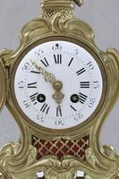 French Brass & Gilt Rococo Style Mantel Clock by Samuel Marti (2 of 7)