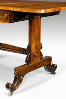 Regency Period Rosewood Sofa Table with Turned Stretcher (6 of 6)