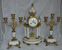 French Portico Clock Set