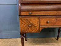 Maple & Co Inlaid Mahogany Tambour Cylinder Desk (7 of 22)