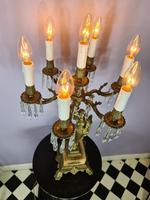 Tall Seven Branch Italian Candelabra Table Lamp c1930 (3 of 7)